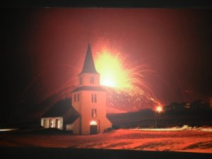 eruption and church