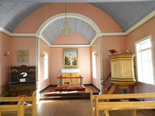 The Interior of a Small Church